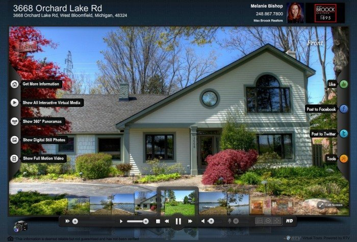 of Fusion Virtual Tour Player with tools and features.